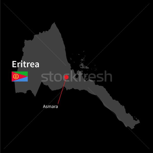 Szczegółowy Pokaż Erytrea miasta banderą czarny Zdjęcia stock © tkacchuk