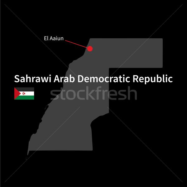 Ayrıntılı harita Arap demokratik cumhuriyet şehir Stok fotoğraf © tkacchuk