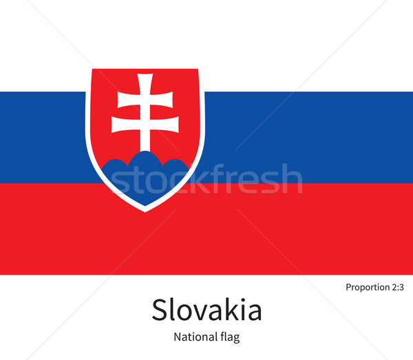 National flag of Slovakia with correct proportions, element, colors Stock photo © tkacchuk