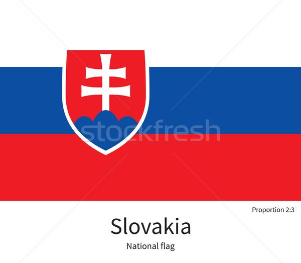 Bandera Eslovaquia corregir elemento colores educación Foto stock © tkacchuk