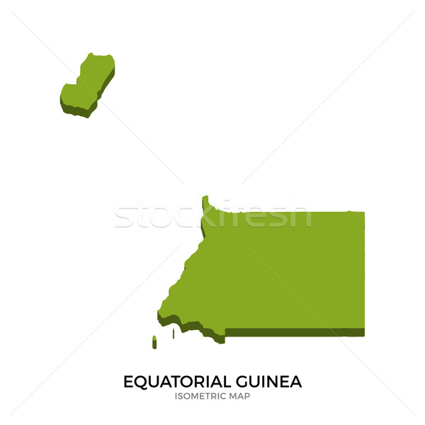 Isometric map of Equatorial Guinea detailed vector illustration Stock photo © tkacchuk
