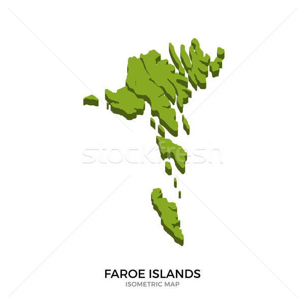 Isometric map of Faroe Islands detailed vector illustration Stock photo © tkacchuk