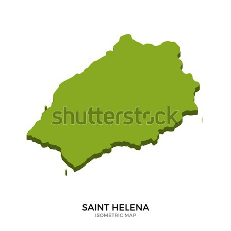 Isometric map of Saint Helena detailed vector illustration Stock photo © tkacchuk