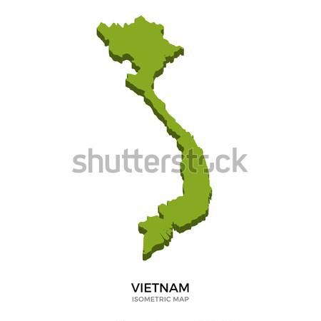 Izometrik harita Vietnam ayrıntılı yalıtılmış 3D Stok fotoğraf © tkacchuk