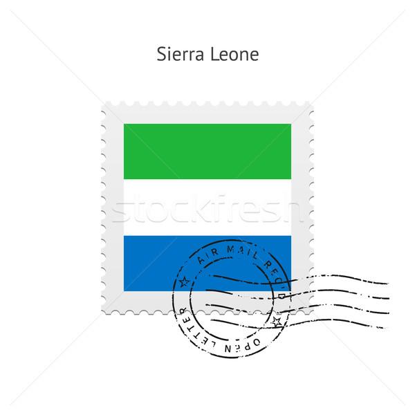 Sierra Leone Flag Postage Stamp. Stock photo © tkacchuk