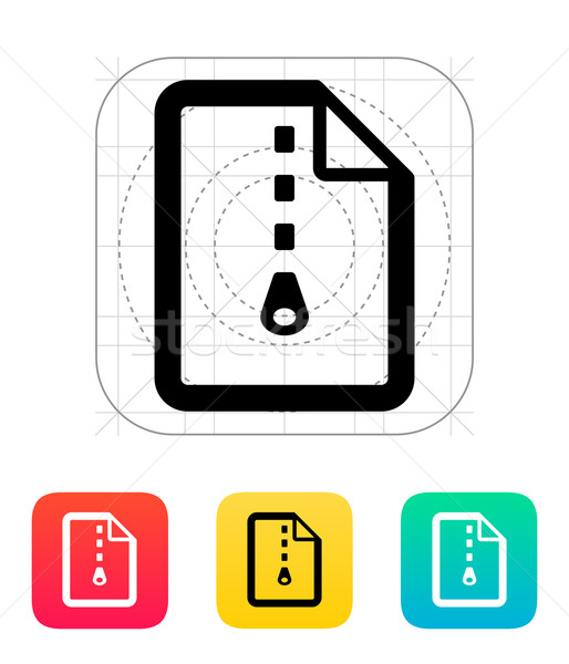 Archive file icon. Stock photo © tkacchuk
