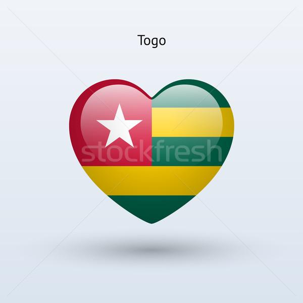 Miłości Togo symbol serca banderą ikona Zdjęcia stock © tkacchuk