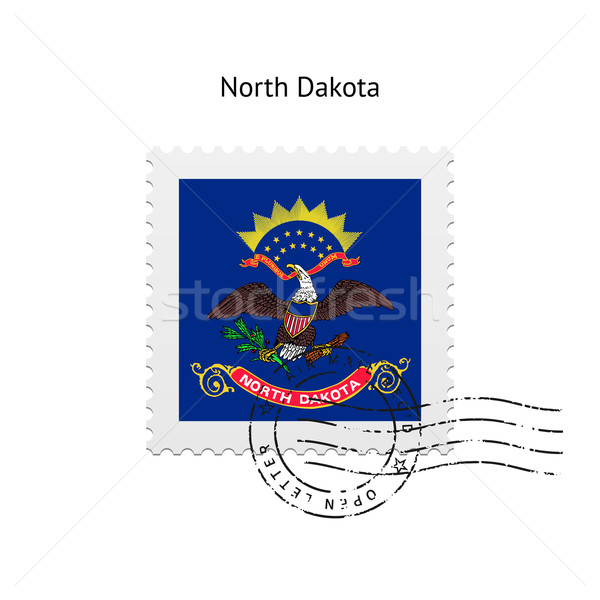 Kuzey Dakota bayrak beyaz imzalamak mektup Stok fotoğraf © tkacchuk