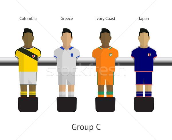 таблице футбола Футбол группа Колумбия Сток-фото © tkacchuk