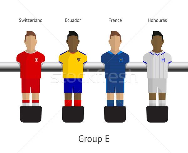 Tabela futebol futebol jogadores grupo Suíça Foto stock © tkacchuk