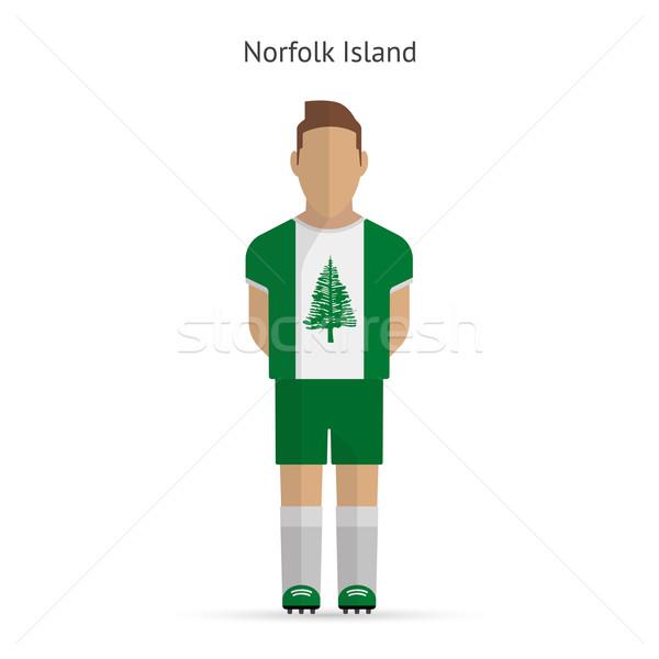 Norfolk Island football player. Soccer uniform. Stock photo © tkacchuk