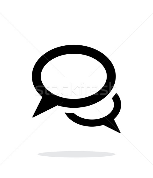 Dialogue icon on white background. Stock photo © tkacchuk