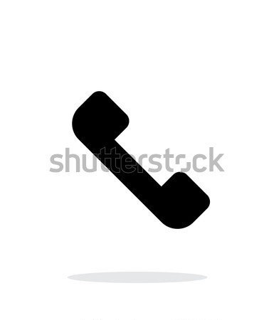 Answer the call. Telephone receiver icon on white background. Stock photo © tkacchuk