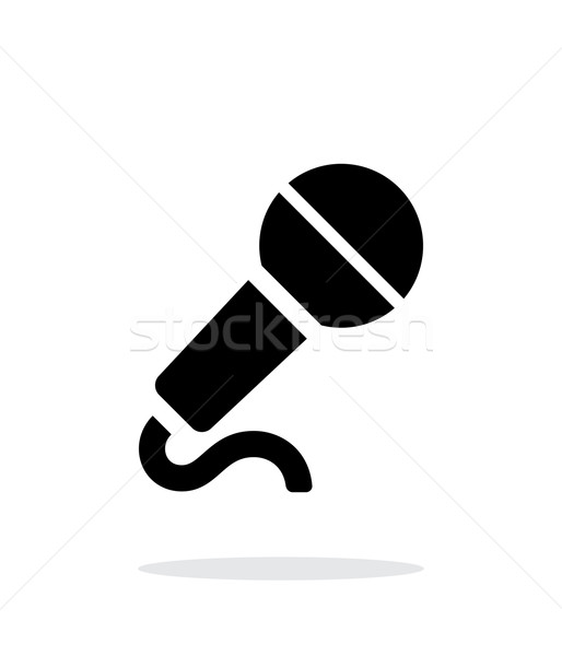 Microphone with cable icon on white background. Stock photo © tkacchuk