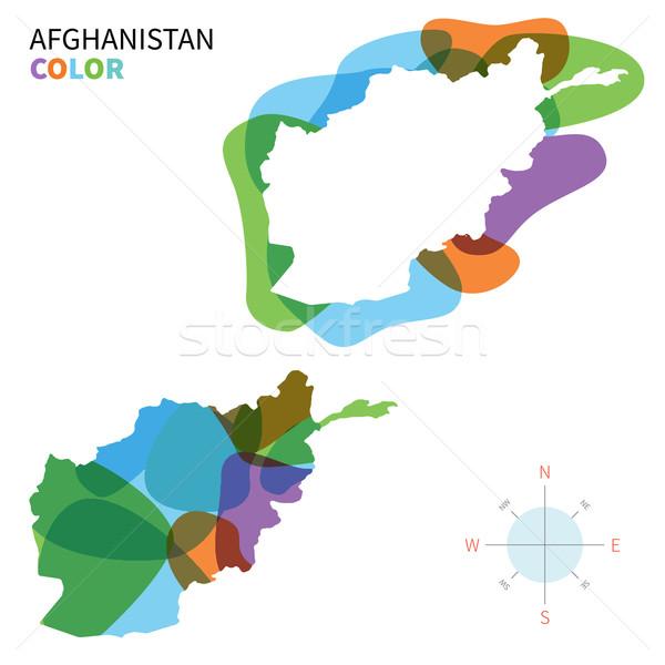 Soyut vektör renk harita Afganistan şeffaf Stok fotoğraf © tkacchuk