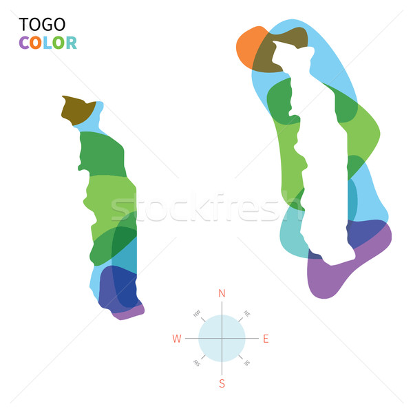 Abstract vettore colore mappa Togo trasparente Foto d'archivio © tkacchuk