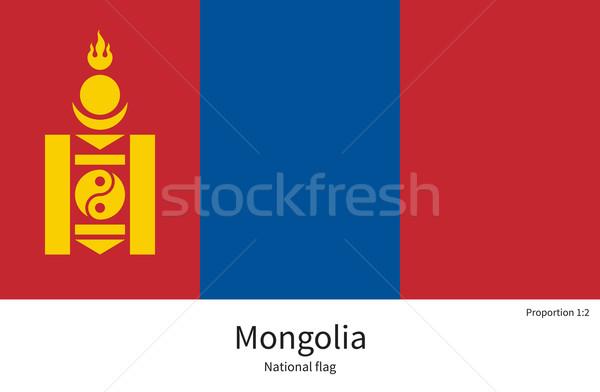 Bandera Mongolia corregir elemento colores educación Foto stock © tkacchuk