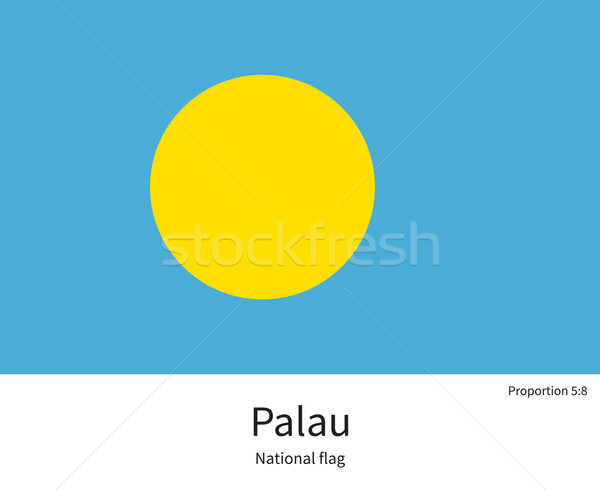National flag of Palau with correct proportions, element, colors Stock photo © tkacchuk
