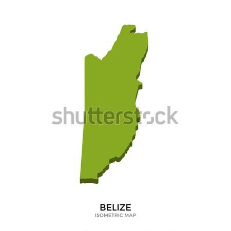 Stock fotó: Izometrikus · térkép · Belize · részletes · izolált · 3D