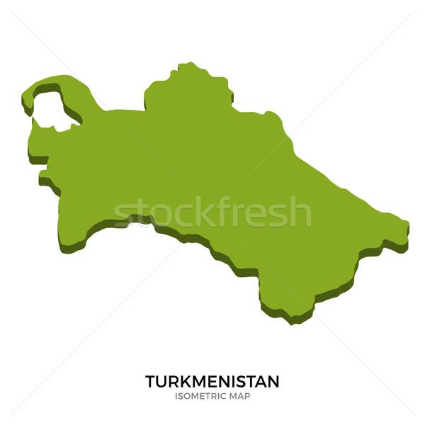 Isometric map of Turkmenistan detailed vector illustration Stock photo © tkacchuk