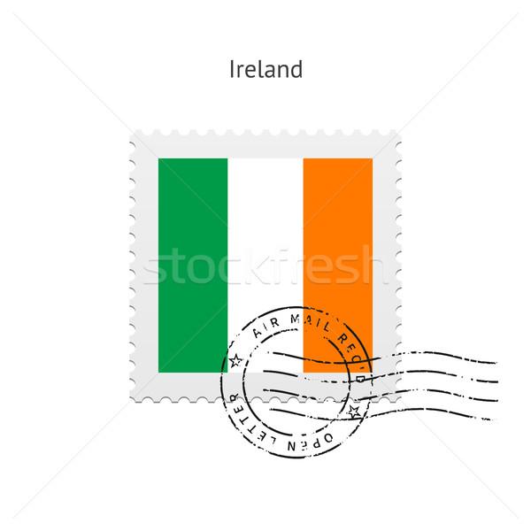 Írország zászló postabélyeg fehér felirat levél Stock fotó © tkacchuk