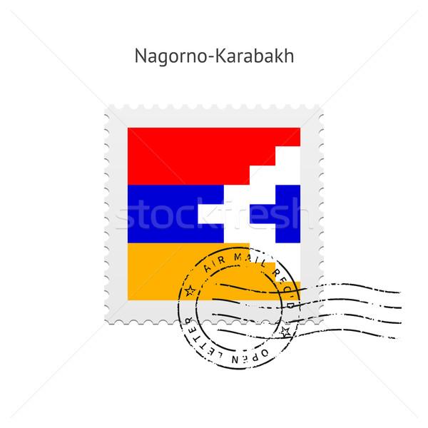 Nagorno-Karabakh Flag Postage Stamp. Stock photo © tkacchuk