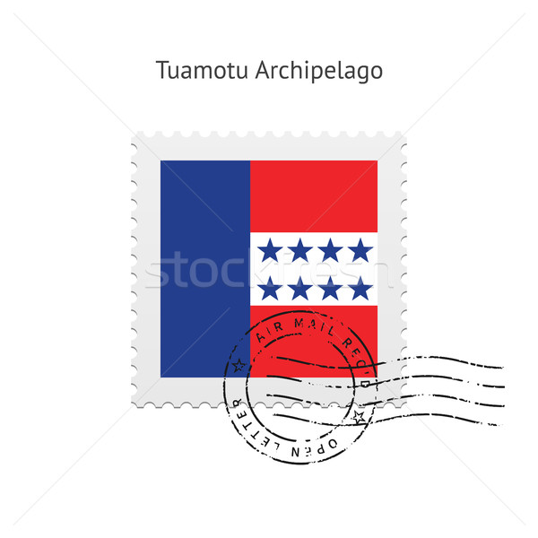 Tuamotu Archipelago Flag Postage Stamp. Stock photo © tkacchuk