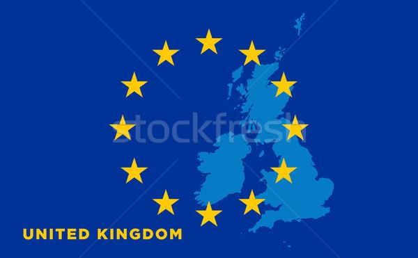 Flag of European Union with United Kingdom on background Stock photo © tkacchuk