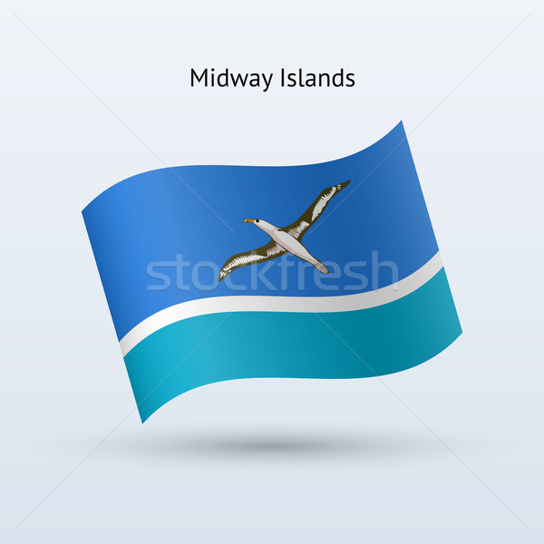 Midway Islands flag waving form. Stock photo © tkacchuk