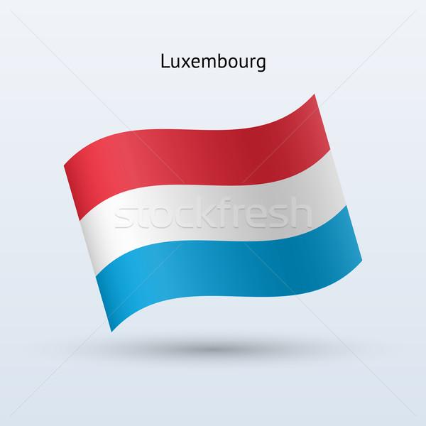 Luksemburg banderą formularza szary podpisania Zdjęcia stock © tkacchuk