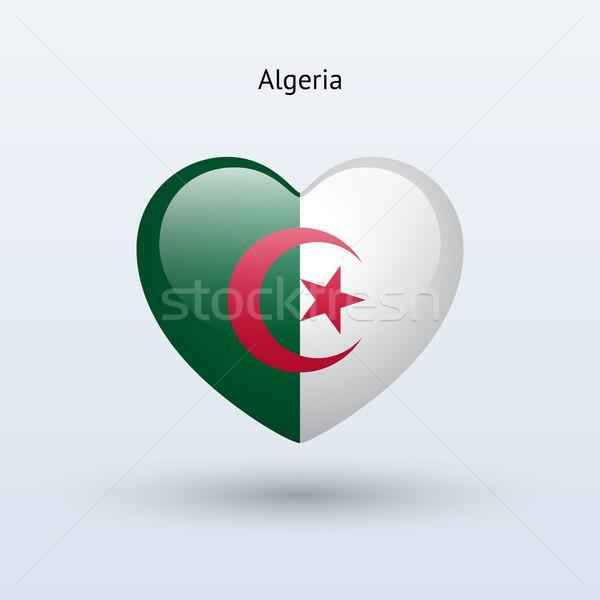 Amor Argélia símbolo coração bandeira ícone Foto stock © tkacchuk