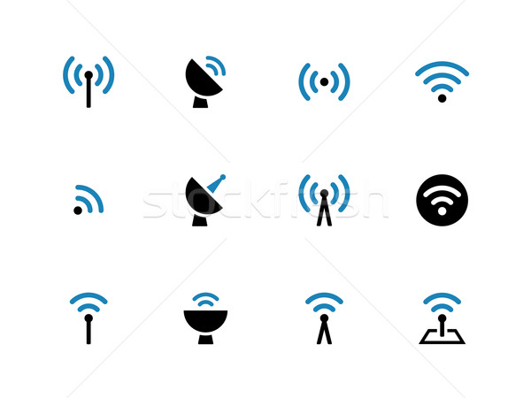 Radio Tower duotone icons on white background. Stock photo © tkacchuk