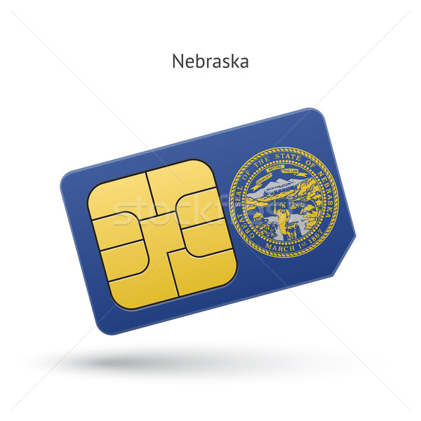 State of Nebraska phone sim card with flag. Stock photo © tkacchuk