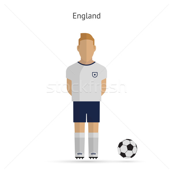 National football player. England soccer team uniform. Stock photo © tkacchuk