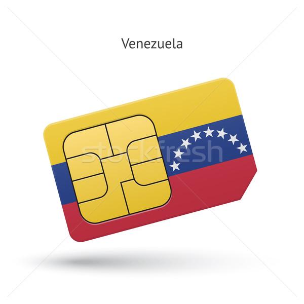 Венесуэла мобильного телефона карт флаг бизнеса дизайна Сток-фото © tkacchuk