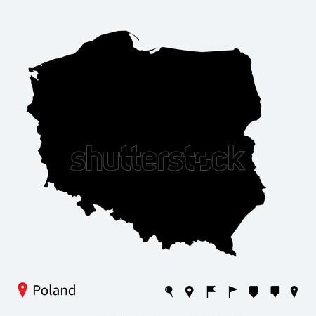 Alto detalhado vetor mapa Nigéria navegação Foto stock © tkacchuk