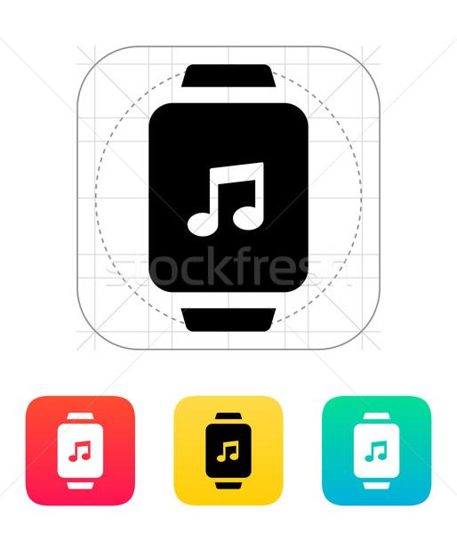 Müzik akıllı izlemek ikon saat spor Stok fotoğraf © tkacchuk