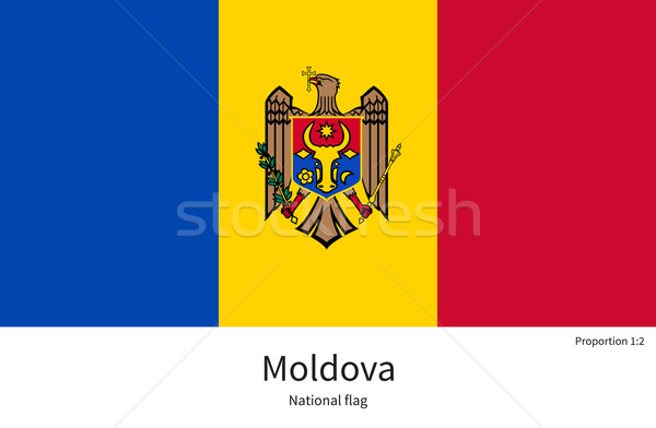 National flag of Moldova with correct proportions, element, colors Stock photo © tkacchuk