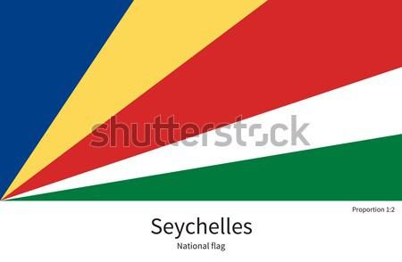 Flagge Seychelles korrigieren Element Farben Bildung Stock foto © tkacchuk