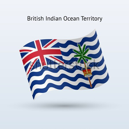 Credit card with British Indian Ocean Territory flag background for bank, presentations and business Stock photo © tkacchuk