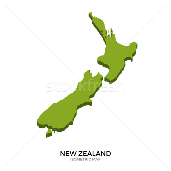 Isometric map of New Zealand detailed vector illustration Stock photo © tkacchuk