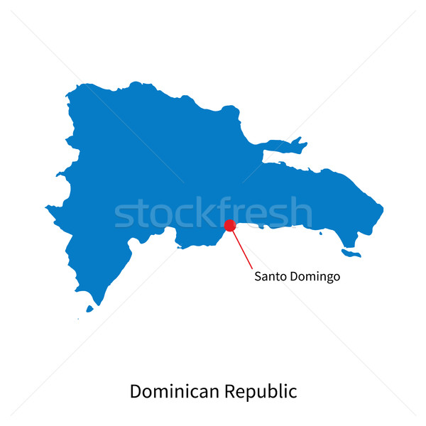 Vector map of Dominican Republic and capital city Santo Domingo Stock photo © tkacchuk