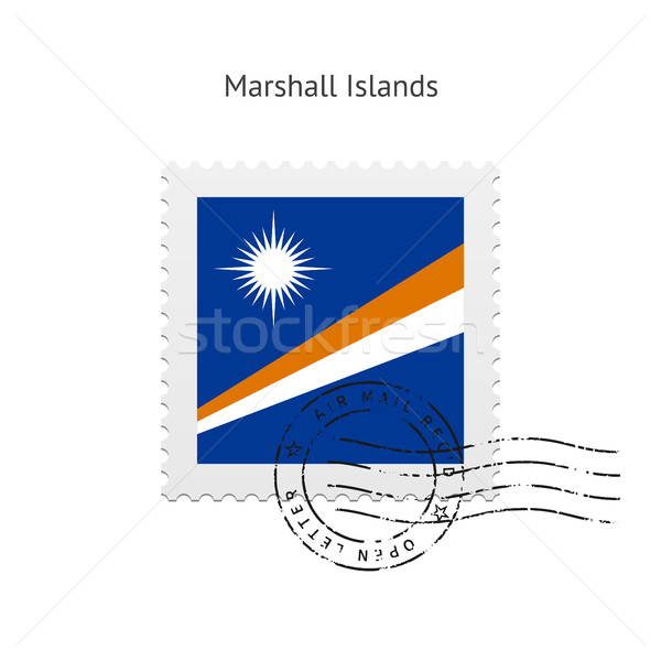 Marshall Islands Flag Postage Stamp. Stock photo © tkacchuk