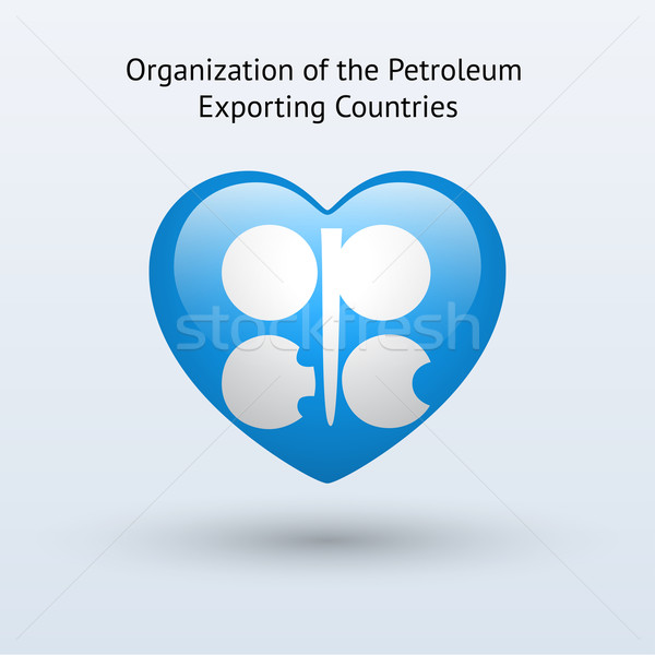 Love Organization of Petroleum Exporting Countries symbol. Stock photo © tkacchuk