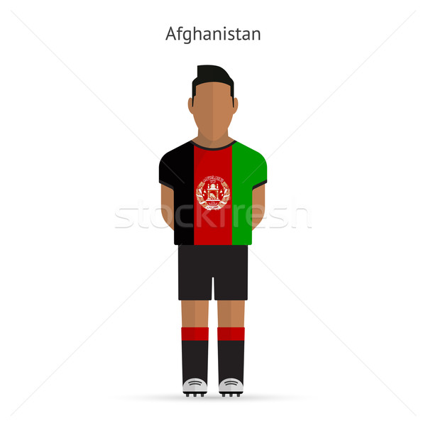 Afghanistan football player. Soccer uniform. Stock photo © tkacchuk