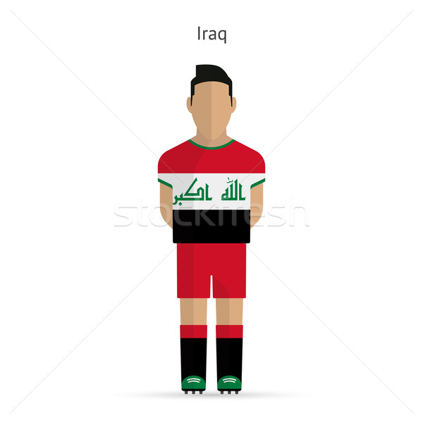Iraque futebol uniforme abstrato fitness Foto stock © tkacchuk