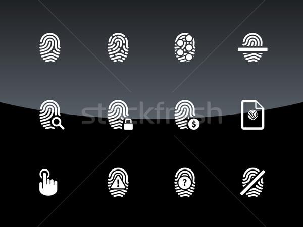 Ujj szkenner ikonok fekete kéz zár Stock fotó © tkacchuk