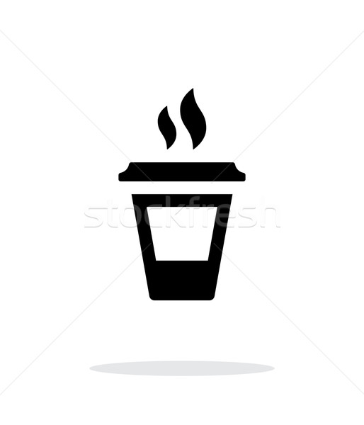 Ending coffee cup icon on white background. Stock photo © tkacchuk