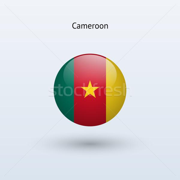 Kamerun banderą szary podpisania internetowych podróży Zdjęcia stock © tkacchuk