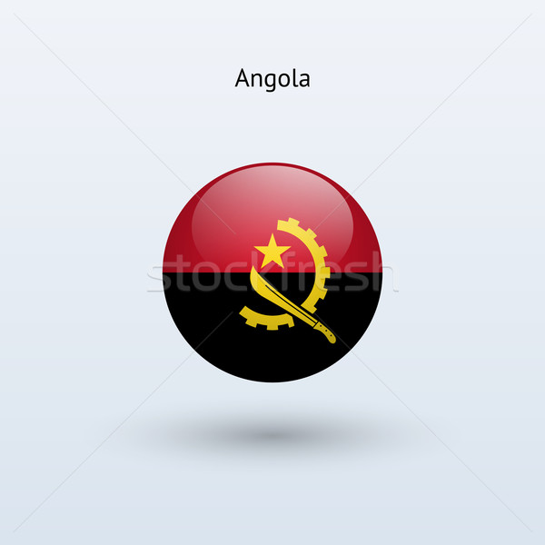 Angola round flag. Vector illustration. Stock photo © tkacchuk
